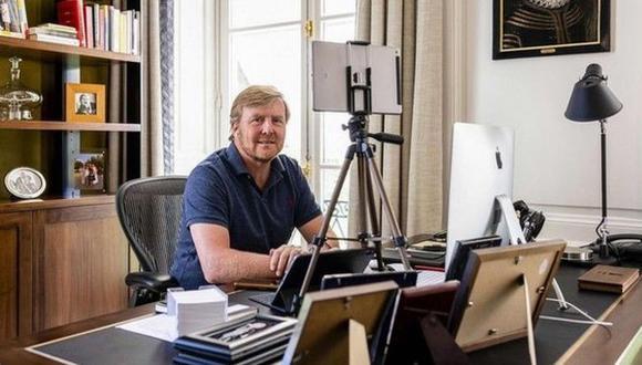 El rey Guillermo es uno de los miles de neerlandeses que trabajan de forma remota. (Foto: Getty Images)