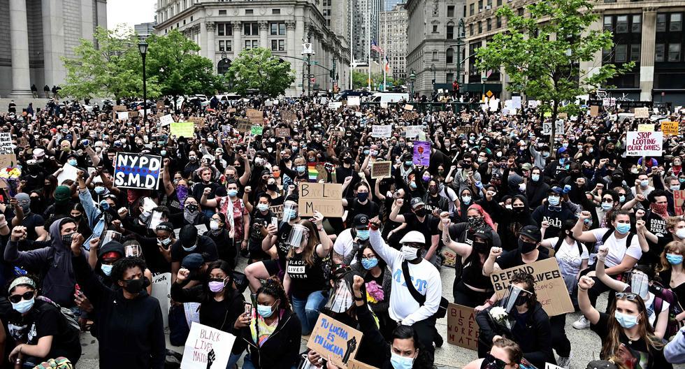 Una nueva jornada de protestas por la muerte de George Floyd inició en Nueva York. (Foto: AFP / Johannes Eisele)