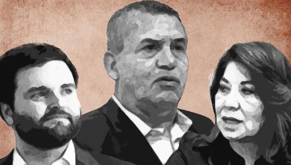Urresti, De Belaunde y Chávez serían los tres congresistas más votados a nivel nacional. (Composición: El Comercio)