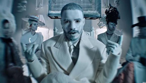 """Captura del videoclip del tema """"Blanco """", interpretado por J Balvin. (YouTube)"""