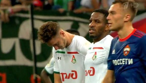 Con Jefferson Farfán, Lokomotiv cayó 1-0 ante el CSKA de Moscú y perdió la Supercopa rusa. (Foto: Twitter)