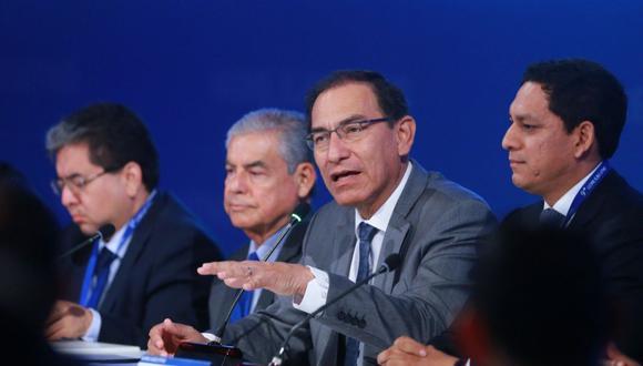 El presidente Martín Vizcarra aseguró que, desde el Ejecutivo, se ha tomado un camino de lucha contra la corrupción y pidió que el Ministerio Público haga lo mismo. (Foto: Difusión)