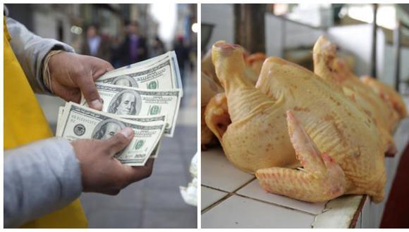 En la dos últimas semanas, mientras el precio del dólar registraba una tendencia al alza hasta superar la barrera de los S/3,80, el precio promedio de pollo por kilo subió en más de 40%, de S/4,45 a S/6,25. (Foto: Archivo)