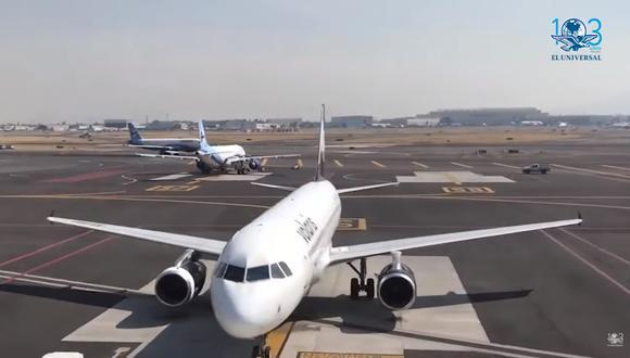Aeropuerto Internacional de la Ciudad de México se hunde hasta 30 centímetros por año. Foto: Captura de video