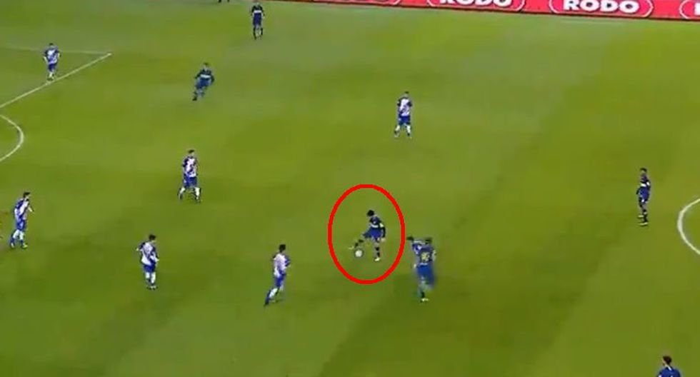 Boca Juniors vs. Alvarado: xeneizes armaron genial 'tiki-taka' que culminó Pablo Pérez. (Foto: Captura de video)