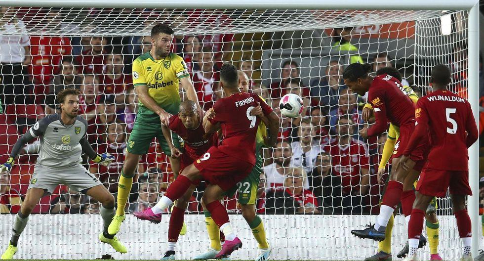 Liverpool vs. Norwich: centro de Salah y golazo de Van Dijk para el 3-0 'Red' en Premier League | VIDEO. (Foto: AFP)