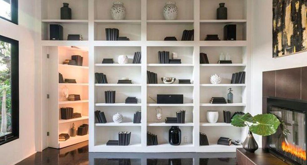 """La sala secreta, a la que se hace referencia como la """"suite Judy Garland"""", está escondida detrás de una impresionante estantería incorporada. Esta habitación fue su dormitorio. (Foto: The MLS)"""