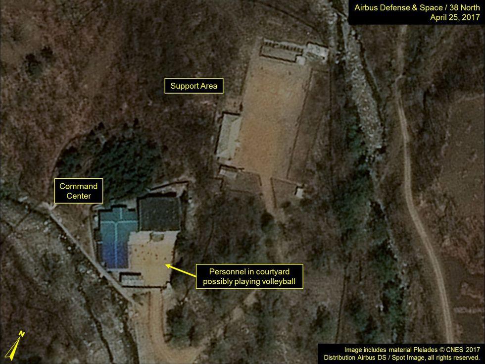 El sitio subterráneo de Punggye-ri, donde Corea del Norte hizo seis ensayos nucleares. (AFP).