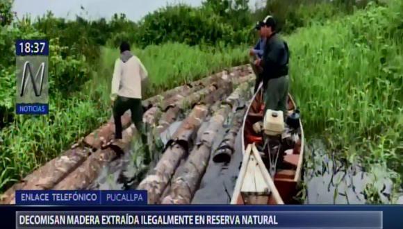 El operativo se ejecutó en la comunidad nativa de Ahuaypa, en el distrito de Iparia, en la provincia de Coronel Portillo. (Canal N)