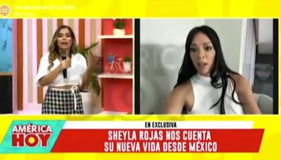Sheyla Rojas reveló que estuvo internada y en cura de sueño por tres días. (Foto: captura de video)