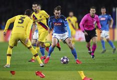 Napoli y Barcelona empatan 1 a 1