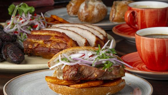 Pan con chicharrón del restaurante Panchita.