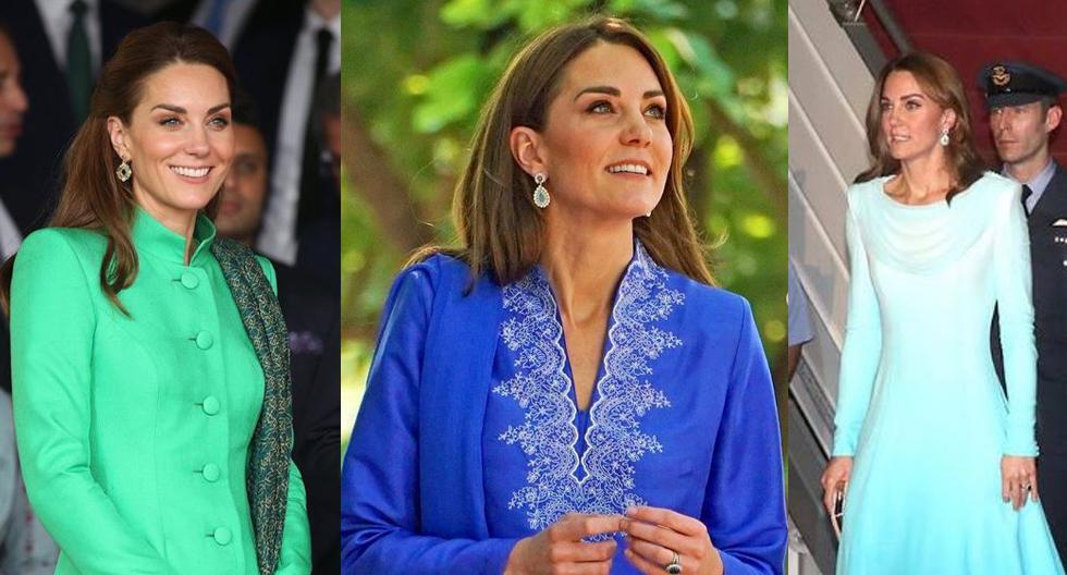 En apenas dos días de viaje en Pakistán, la duquesa de Cambridge ha sorprendido con glamorosos y coloridos looks. Aquí los detalles. (Fotos: Instagram/ @katemidleton)