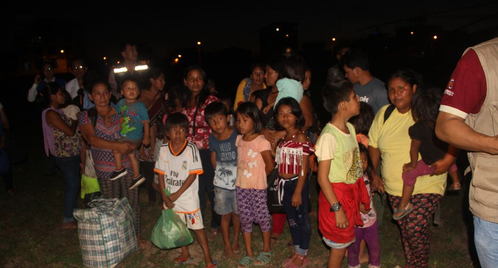 Un total de 35 personas de la comunidad nativa Monte Salvado fueron trasladados el miércoles a la ciudad de Puerto Maldonado. (Foto: Gobierno Regional de Madre de Dios).
