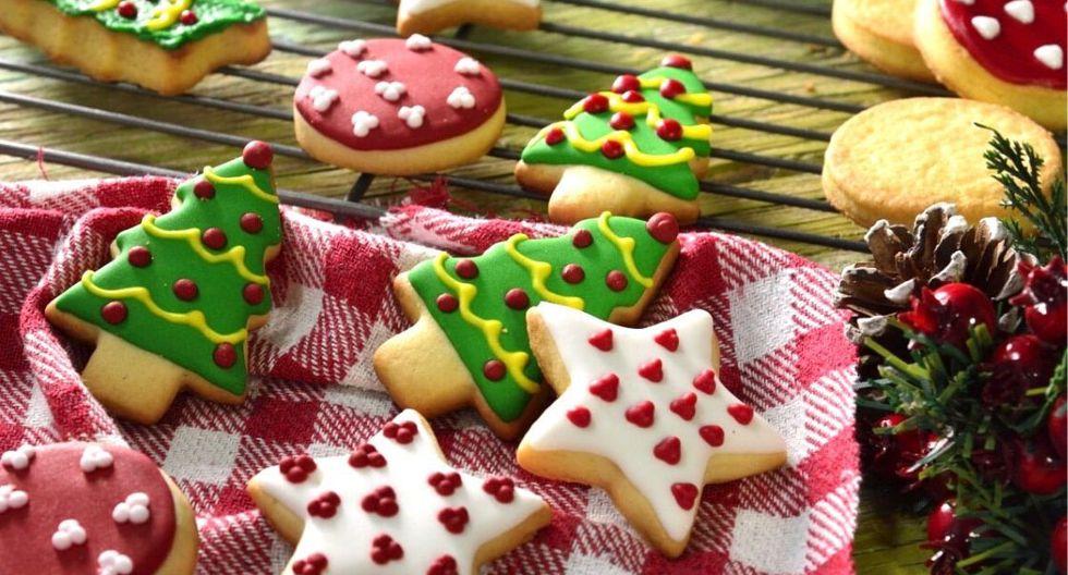 Galletas de mantequilla navideñas. (Foto: Kiwilimón)