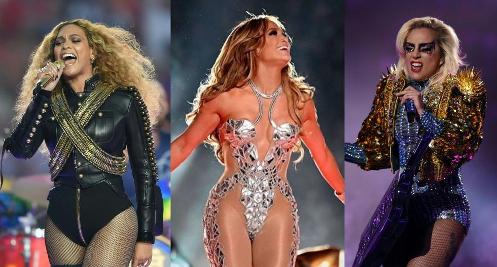 Conoce a todas las divas del pop que estuvieron sobre el escenario del Super Bowl. Recorre la galería para descubrir más detalles. (Foto: AFP)
