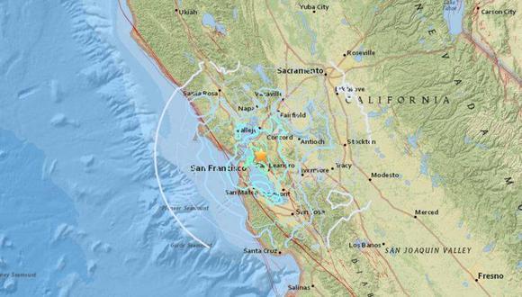 Durante la madrugada del jueves hubo un sismo de 4,4 de magnitud en California, Estados Unidos.