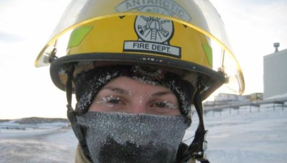 Megan Branson quería vivir una aventura cuando terminó de prepararse como bombera, así que se fue a Antártica.