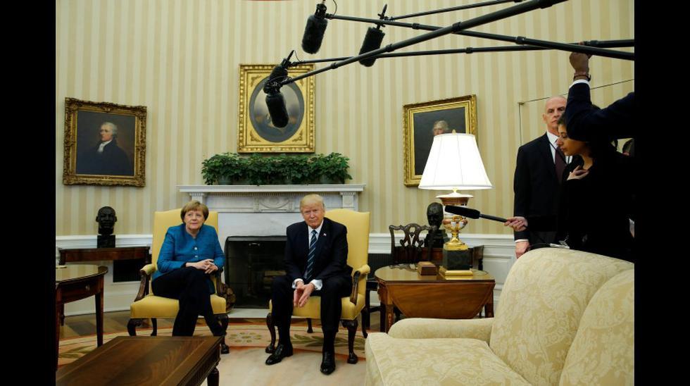 Donald Trump y Angela Merkel, juntos en la Casa Blanca - 7