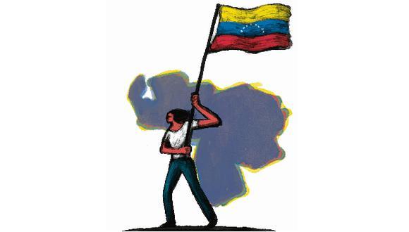 """""""Y, aunque Maduro se cuida mucho sobre cada paso que da para no generar mayor crítica, se necesita la participación activa y constante de la población"""". (Ilustración: Victor Aguilar Rúa)"""