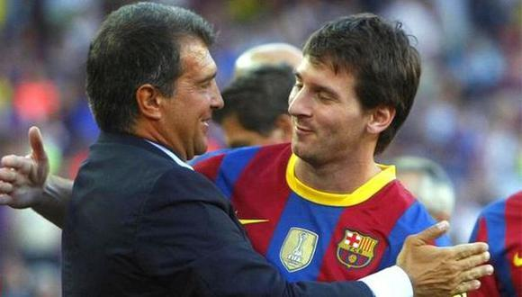 Joan Laporta fue presidente del Barcelona cuando Messi debutó en el club. (Foto: AFP)