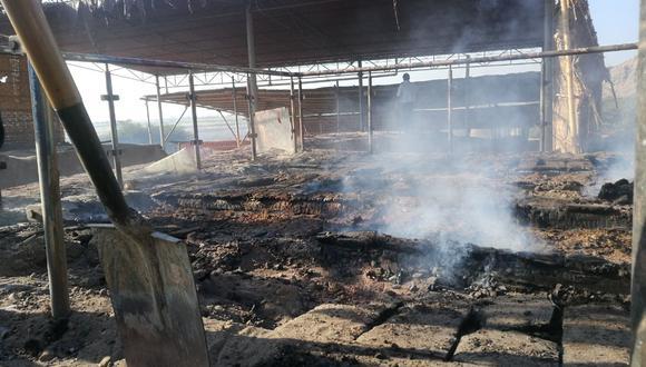 Así luce el complejo arqueológico de Ventarrón tras incendio. (Foto: El Comercio)
