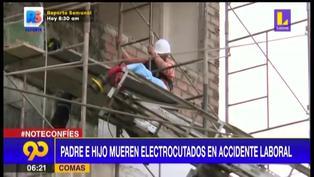 Comas: Padre e hijo albañiles mueren electrocutados mientras trabajaban en una vivienda