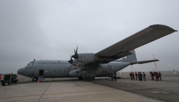 Avión Hércules de la FAP partió esta mañana con especialistas del Minedu y Cancillería rumbo a Salinas, Ecuador, para traer a escolares y profesores varados en dicho país. (Foto: Minedu)