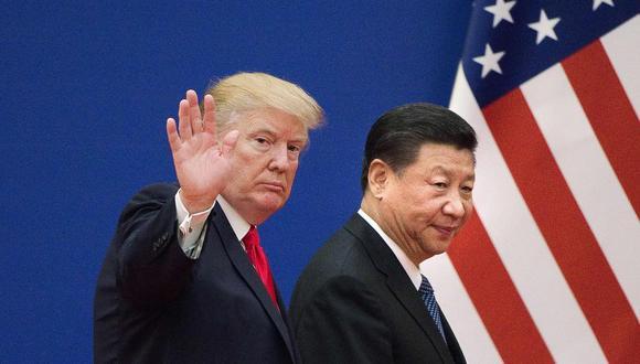El presidente de Estados Unidos, Donald Trump, y el de China, Xi Jinping. (Foto: AFP)