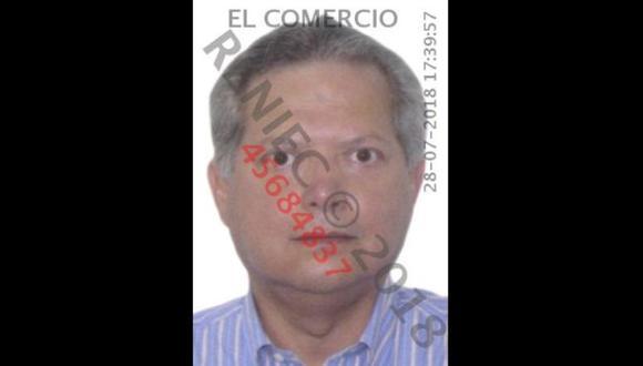 En la  foto, Jorge Noziglia Chávarri, ex director de Recursos Públicos del Ministerio de Economía y Finanzas (MEF). A pedido del Ministerio Público, el Poder Judicial ordenó el jueves su detención preliminar. (Foto: Reniec)