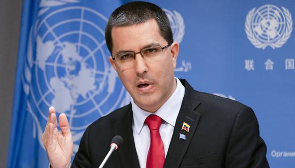 """El canciller Arreaza dijo que Venezuela trabajará con otros países que se oponen a la """"dictadura"""" que Estados Unidos quiere imponer en el mundo. (Foto: AFP)"""
