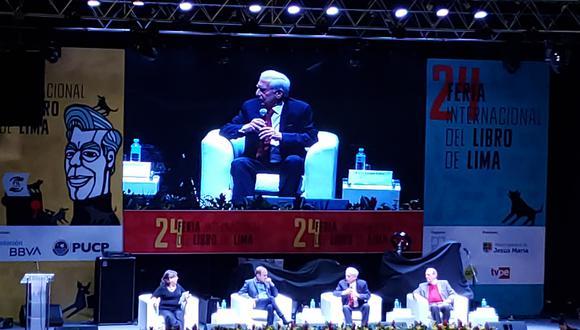 Mario Vargas Llosa en el conversatorio El futuro del Perú y de América Latina