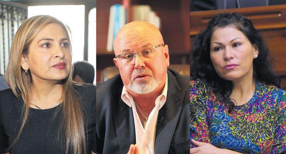 El pleno del Congreso debatirá hoy los informes sobre Maritza García, Carlos Bruce y Yesenia Ponce. (Fotos: Archivo El Comercio)