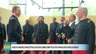 Nuevo museo recrea la emblemática escena de Francisco Bolognesi