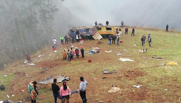 El accidente de Otuzco dejó 19 fallecidos y 24 heridos. (Foto: cortesía)
