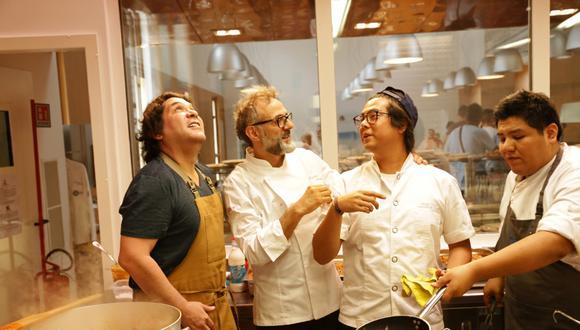En 2015, Gastón Acurio y su equipo cocinaron en las primeras experiencias de Refettorio Ambrosiano, creado por Massimo Bottura en Milán. (Foto: Emanuele Colombo)