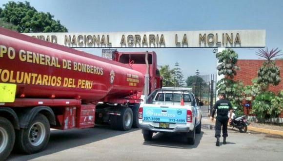 La Molina: bomberos controlan incendio forestal en U. Agraria