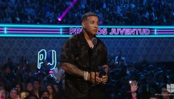Daddy Yankee en los Premios Juventud. (Captura de pantalla)