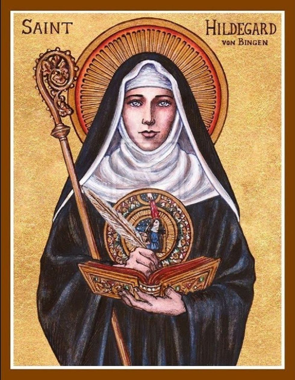 Aunque en su tiempo su trabajo no fue considerado cientìfico, Santa Hildegarda brillo con luz propia.