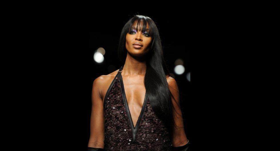 Naomi Campbell también es llamada la 'Diosa del ebano'. (Foto: AFP)