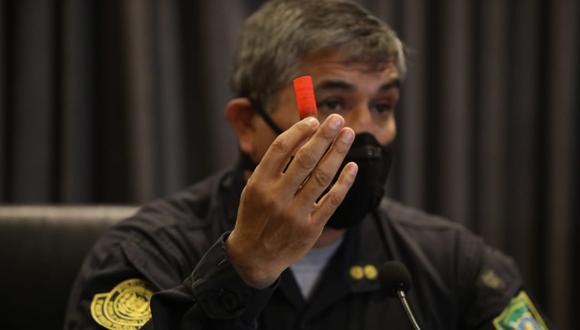 Policía afirma que la institución no tiene acceso a cartucho con proyectiles metálicos, sino la ciudadanía. (Video: Britanie Arroyo / @photo.gec)