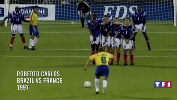 """El recordado remate de tiro libre del brasileño fue bautizado como """"el gol que desafió a la física"""". Sucedió un 3 de junio de 1997, en un amistoso frente al combinado de Francia."""