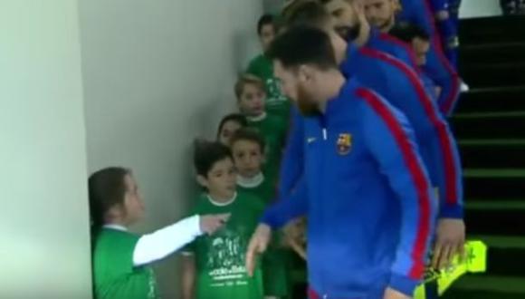 La reacción de una pequeña al saber que acompañará a Messi