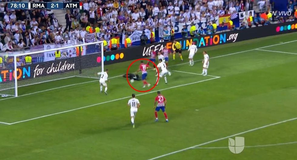 Real Madrid vs. Atlético de Madrid: Diego Costa marcó el empate 2-2. (Foto: Captura de pantalla)