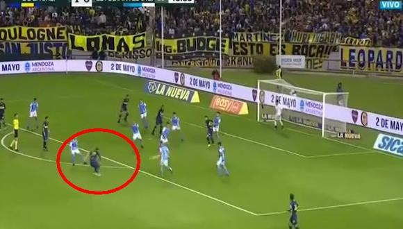 Boca Juniors vs. Estudiantes Río Cuarto: Mauro Zárate puso el 2-0 con este golazo. (Foto: captura)