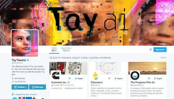 Twitter: cuenta 'robot' de Microsoft publica mensajes racistas