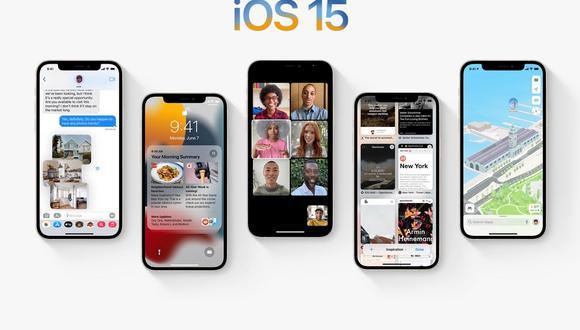 Conoce el listado oficial de los celulares de Apple que actualizarán a iOS 15. (Foto: Apple)
