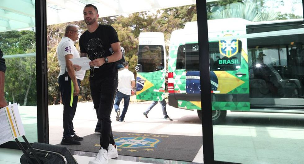 La llegada de Renato Augusto a Granja Comary. (Foto: CBF)