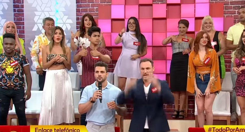 El martes, durante la emisión del segundo programa de Todo por amor, Nicola Porcella se disculpó frente a cámaras con Karina Rivera por el desatinado comentario que hizo en su contra.