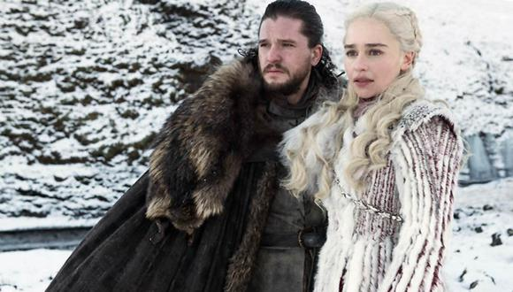 Kit Harington y Emilia Clarke en sus papeles como Jon Snow y Daenerys Targaryen en Game of Thrones. (Foto: HBO).